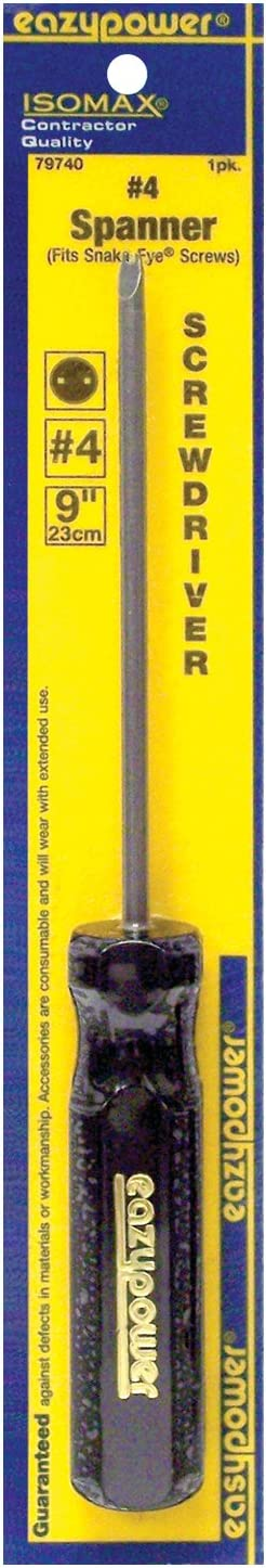 fits Snake Eye Screw Eazypower 79740 1-Pack #4 Spanner Security Isomax 9-inch Screwdriver