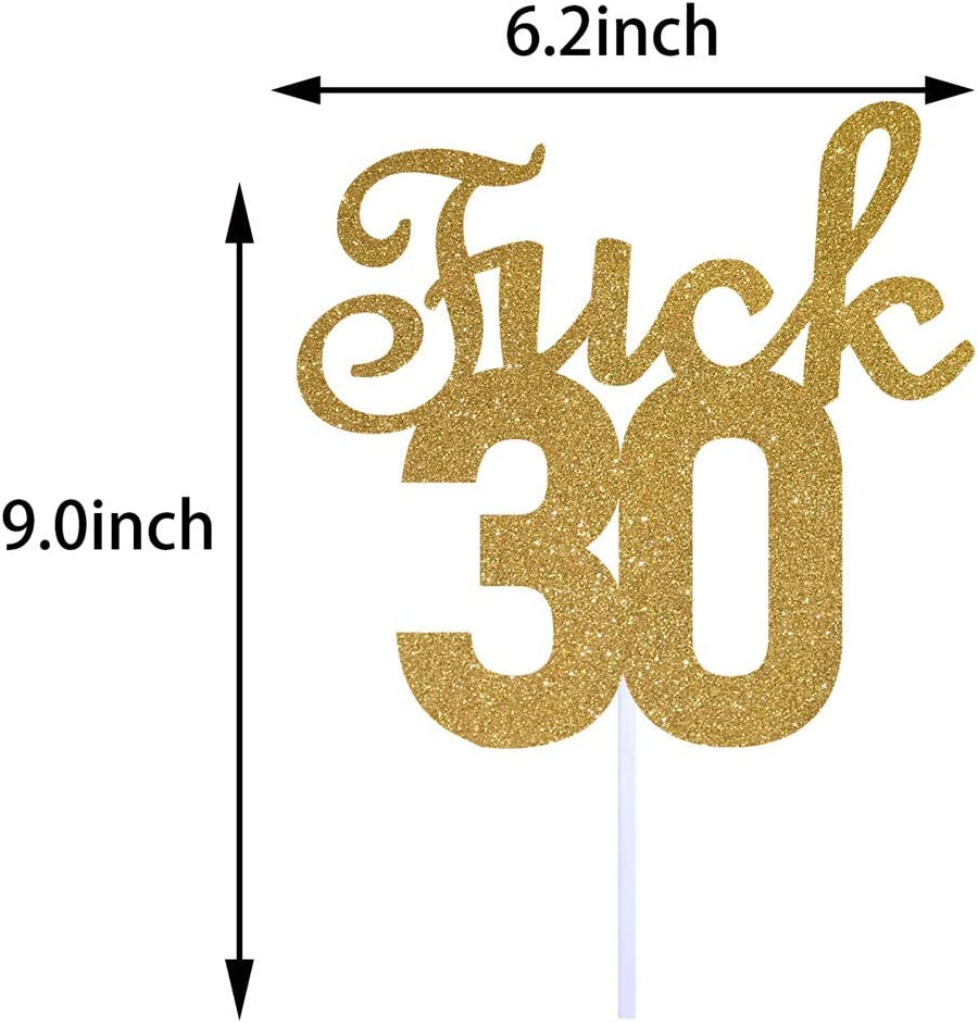 Dirty 30 Cake Topper Thirty Sign Funny Happy 30th Birthday Party Decorations Supplies