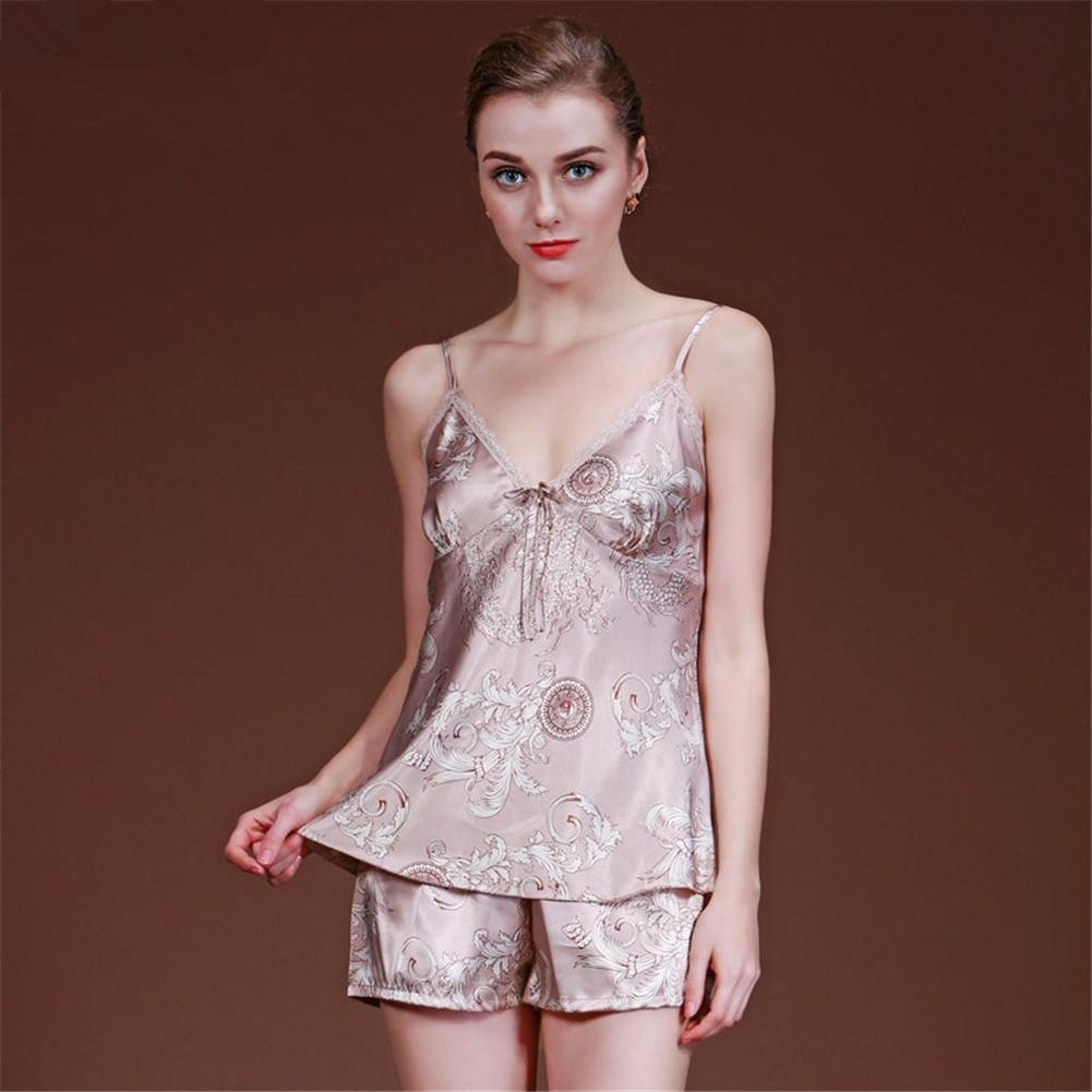 DONG Silk Nightdress Shorts Two Piece Suit Pajamas