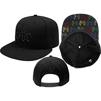 acab8c6833953 AC DC Red on White Hard Rock Band Distressed Baseball Cap (Canon Pop ...