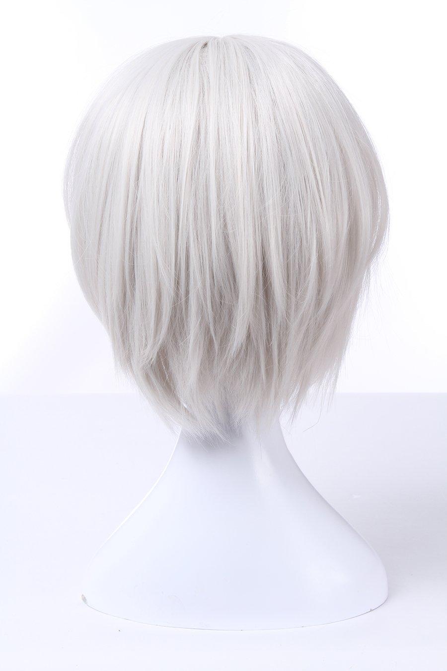 b03e2bdc1a64d3 Amazon | NSPSTT ショートヘア ボブ 白 シルバー 耐熱 ウィッグ コスプレウィッグ | コスプレ・仮装 通販