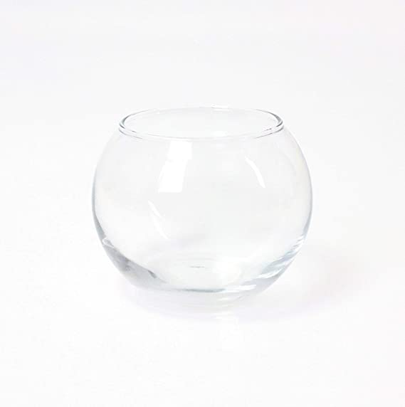 INNA Glas Jarrón Redondo - Maceta Decorativa Tobi, Transparente, 8 ...