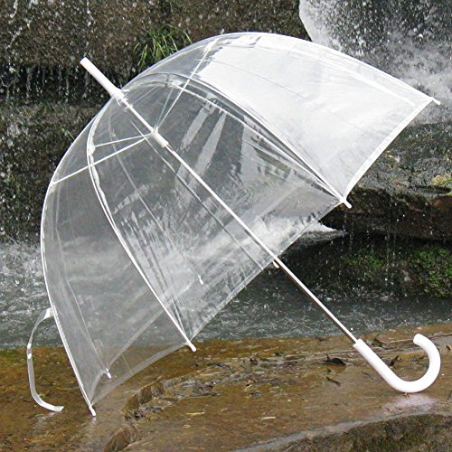 New Bubble Dome Shaped Clear See-through Rain Umbrella No Trim (Patio Umbrella See Through)