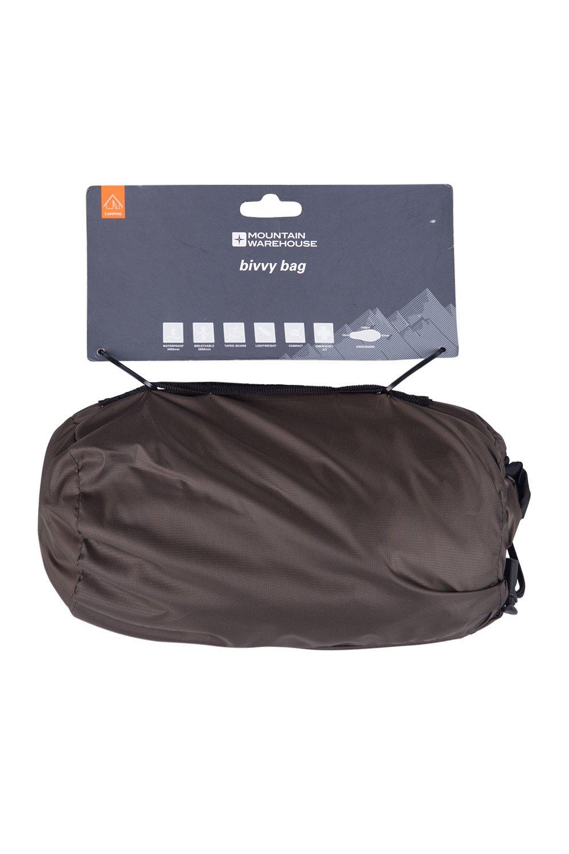 Mountain Warehouse Saco de Dormir de vivac - 225cmX75cm, Bolso Camping Compacto, cómodo, Impermeable, Costuras grabadas, Bolsa de Almacenamiento - para ...
