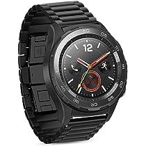 iBazal Correas 20mm Acero Metal Bandas Pulseras Compatible con Huawei Watch 2/Galaxy Watch 42mm/Active 40mm/Gear S2 ...