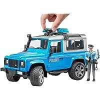 Bruder - Land Rover Polis Aracı Ve Memur Ölçekli Model, Mavi/Gri