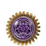 Fullmetal Alchemist Transmutation Circle Brooch Badge Pin Anime Manga Pendant Fashion Jewelry Symbol Cosplay Charm Cute Gift