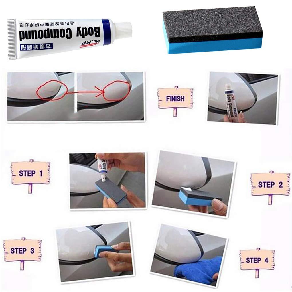 F-blue Carrosserie compos/é P/âte Set Scratch Peinture de r/éparation de Polissage Auto Rectification compos/é P/âte Car Care Polish