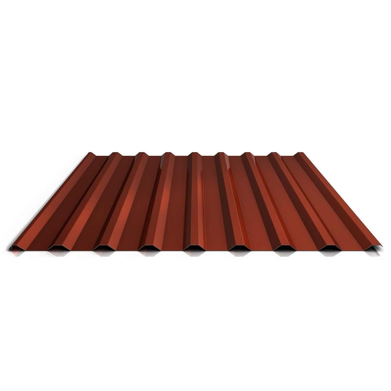 Beschichtung 25 /µm St/ärke 0,63 mm Profil PS20//1100TRA Farbe Wei/ßaluminium Material Stahl Profilblech Trapezblech Dachblech