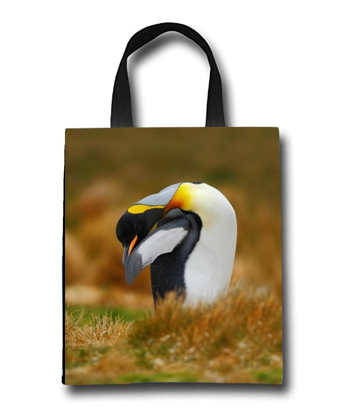 Cute Penguin Beach Tote Bag - Toy Tote Bag - Large Lightweight Market, Grocery & Picnic