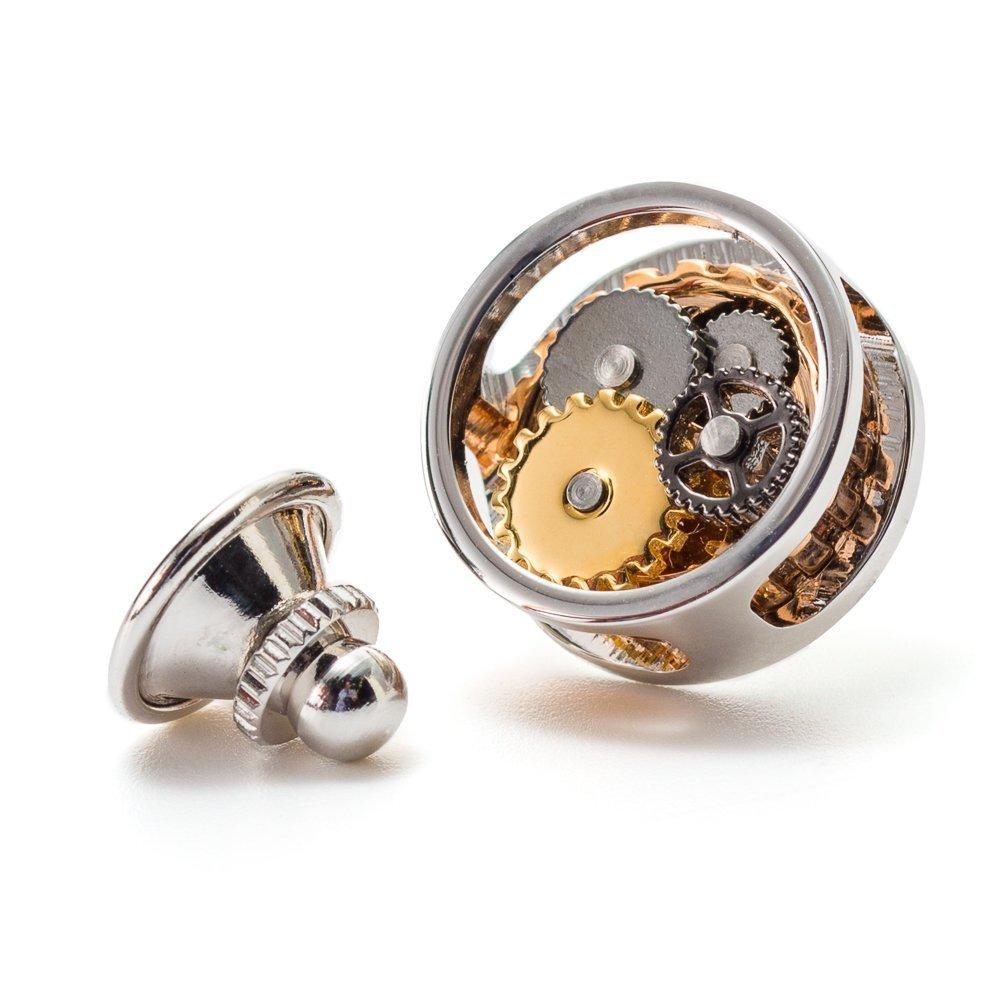 Tateossian Men's Gear Tie Pin - Gold/Silver