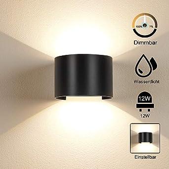 2018 NEU 7W LED Sensor Dimmbare Wandleuchte Aluminium up and down Wandlampe