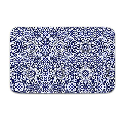 DKISEE Indoor Outdoor Entrance Rug Floor Mat Bathmat Azulejo Doormat