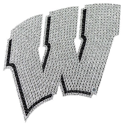 - University of Wisconsin Badgers College NCAA Sports Team Collegiate Logo Car Truck SUV Motorcycle Trunk 3D Bling Gem Crystals Chrome Emblem Adhesive Decal, Model: , Sport & Outdoor