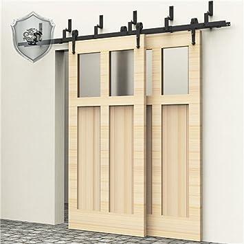 Gentil KIRIN 5 Feet Bypass Double Wood Doors Hardware Interior Closet Door Barn  Door Hardware Sliding Track