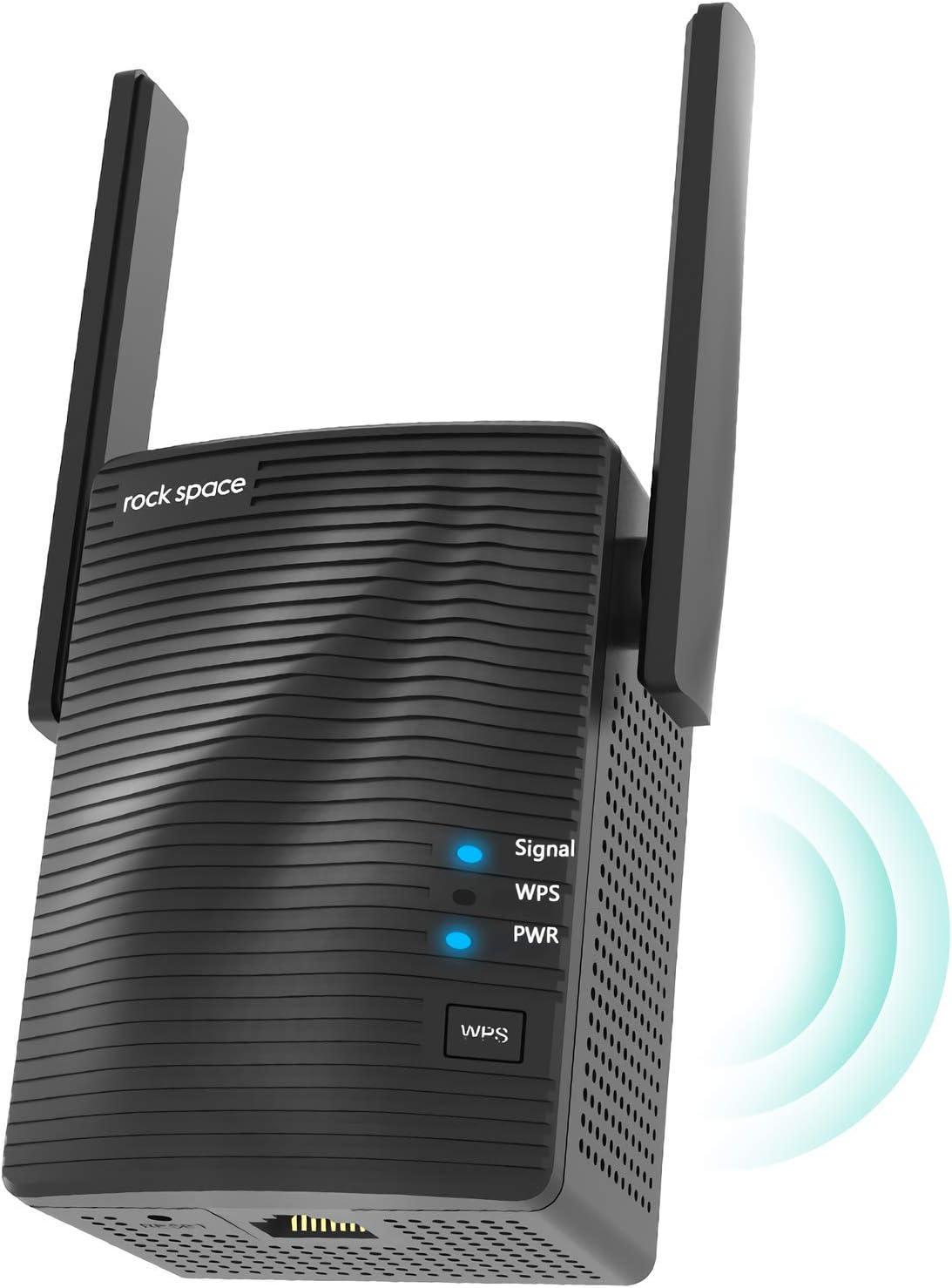 Amplificador Señal WiFi - Amplificador WiFi 5G & 2.4G, Repetidor WiFi Potente AC1200 con Puerto Gigabit,Extensor de WiFi con AP Modo,Instalación Simple con WPS, Repetidor WiFi Largo Alcance Hasta