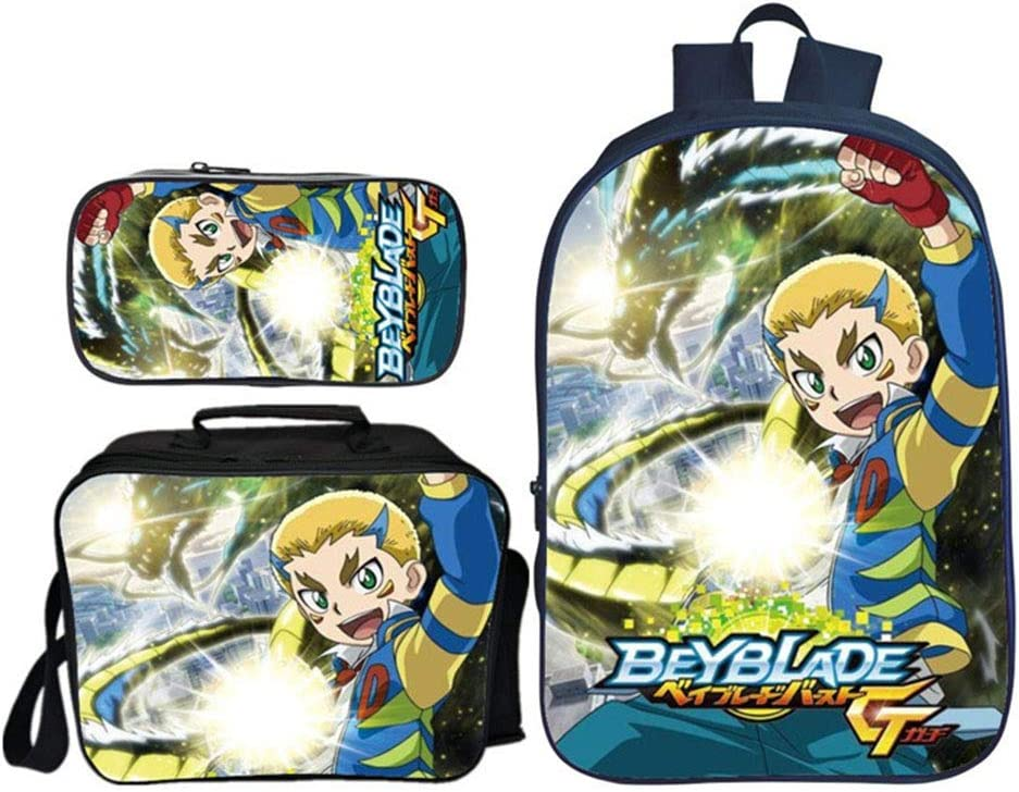 QunWang Children's Backpack 3D Printing Beyblade Burst