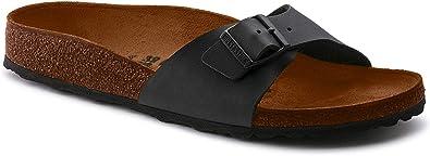 Details about BIRKENSTOCK Womens Madrid Birko Flor Footbed Sandals Black Size 38