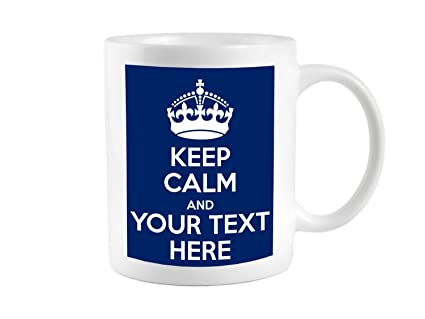 Keep Retro And With Mug On Cup Personalised Calm Carry Gift Any Text 76Yfvbgy