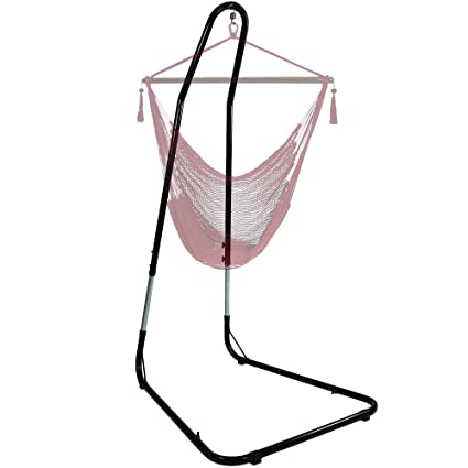 Sunnydaze Adjustable Hammock Chair Stand For Hanging Chairs/Swings, Adjusts  Between 79 To 93