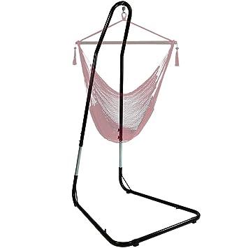 sunnydaze adjustable heavyduty hammock chair stand for hammock chairs swings adjusts up