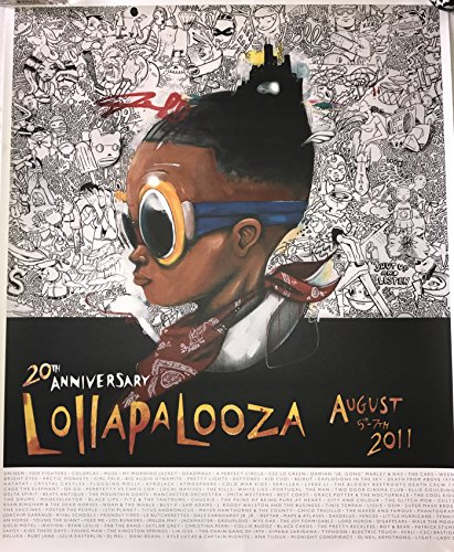 Lollapalooza 2011 poster fly boy hebru brantley chicago art 20th music - Print Brantley