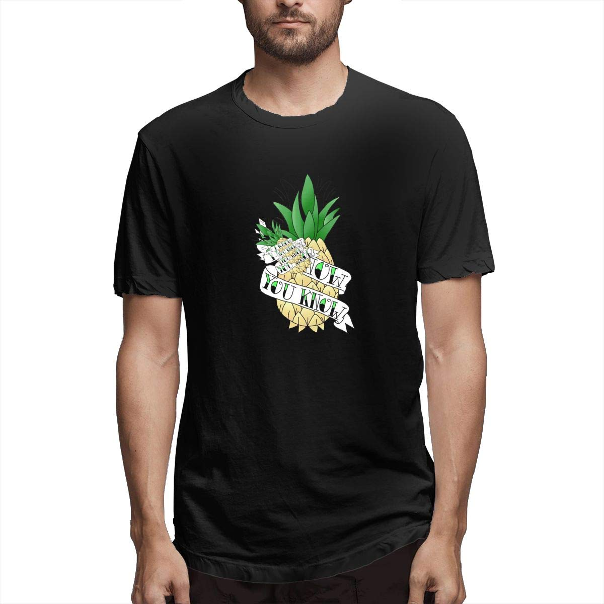 Sy Compact Psych Pineapple S Fashion Short Sleeve Tshirts