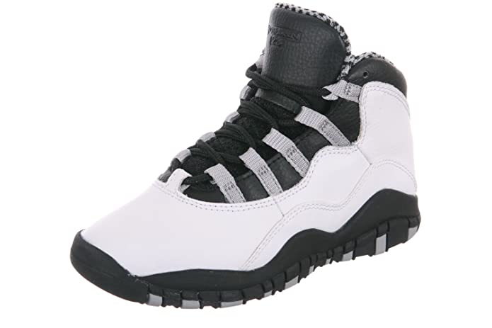 ... shop amazon jordan preschool retro 10 white black light steel grey  varsity red 310807 103 3 461690eb9