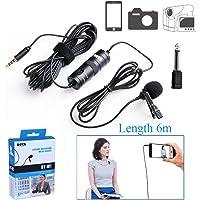 BOYA BY-M1 omnidireccional lavalier Micrófono de condensador de 20 pies Audio Cables para Canon Nikon Sony réflex digitales Videocámaras Cámaras IOS iPhone Smartphones