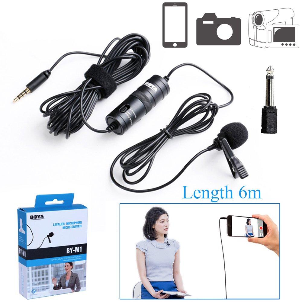 BOYA BY-M1 3, 5mm Omnidirektional Kondensatormikrofon Kamera Lavalier Mikrofon für Canon Nikon Sony DSLR Camcorder Kameras IOS iPhone Smartphones Audio recorders BY00M1