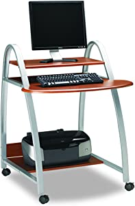 Mayline MLN971MEC 971MEC Computer Desk Medium Cherry Thermofoil