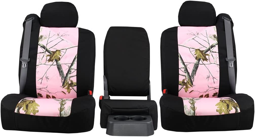 Front Seats ShearComfort Custom Realtree Camo Seat Covers for Dodge Ram Pickup 1500 in Pink for 40//20//40 w//Folddown 3 Cup Console and Adjustable Headrests 2013-2018