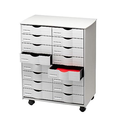 Cassettiere Da Ufficio.Paperflow Dt162 02 Cassettiera Da Ufficio Con Rotelle 16 Cassetti 580 X 715 X 343 Mm Grigio