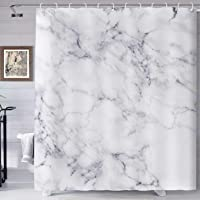 Cortina de ducha de mármol abstracta de color negro ondulación de agua relajante cortina de baño decoración del hogar…