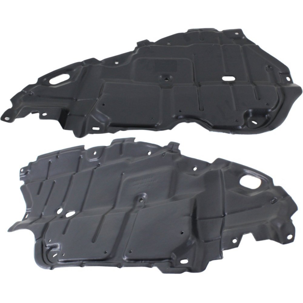 Engine Splash Shield Set of 2 Compatible with 2009 Toyota Camry Under Cover Right and Left Side Japan Built