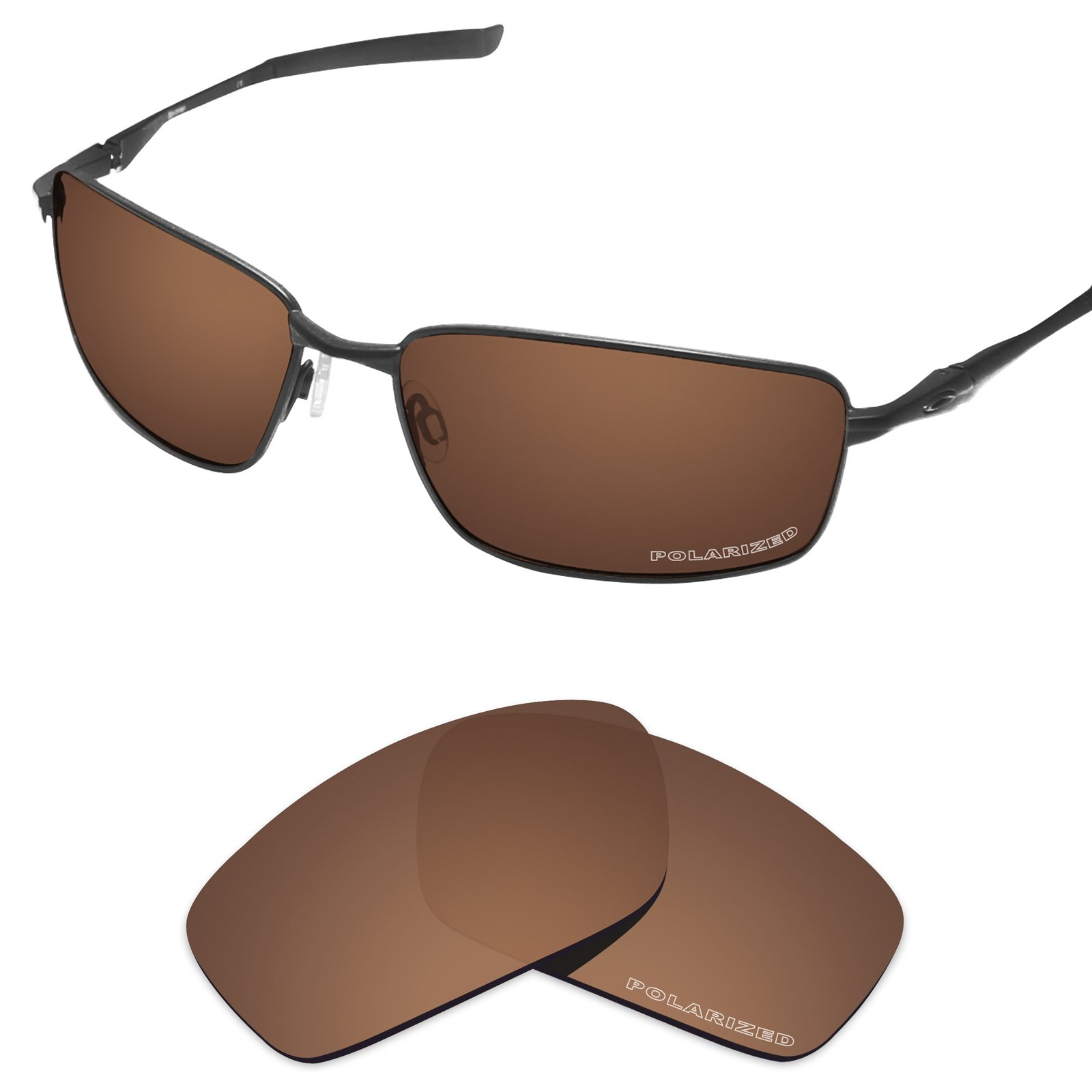 Tintart Performance Replacement Lenses for Oakley Splinter Sunglass Polarized Etched-Nut Brown