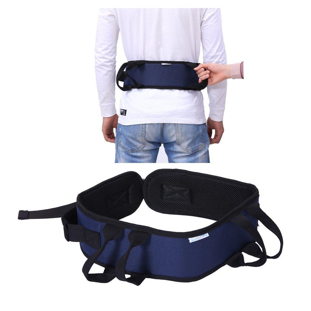 Transfer Belt Gait Walking Lift Assist Safety Medical Sling Bariatric Patient Health Care Nursing Belt for Wheelchair, Bed (Nursing Belt-Blue) by NEPPT (Image #2)