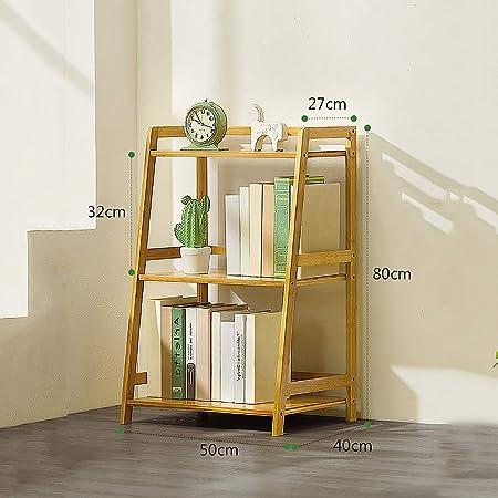 XM&LZ Free Standing Estante De Escalera, Bambú 3-Animal Estante De Exhibición Gran Capacidad Estante del Almacenaje Multiusos Planta Jarrón Estantería Abierta Estantería para Libros-a: Amazon.es: Hogar