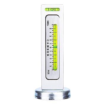 Herramienta de calibrador magnético, Universal ajustable herramienta de calibre magnético del coche Camber Camber Castor rueda de distribución del eje: ...