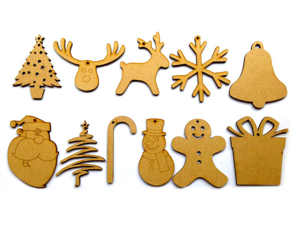 Christmas cutouts decorations for Wooden christmas cutouts