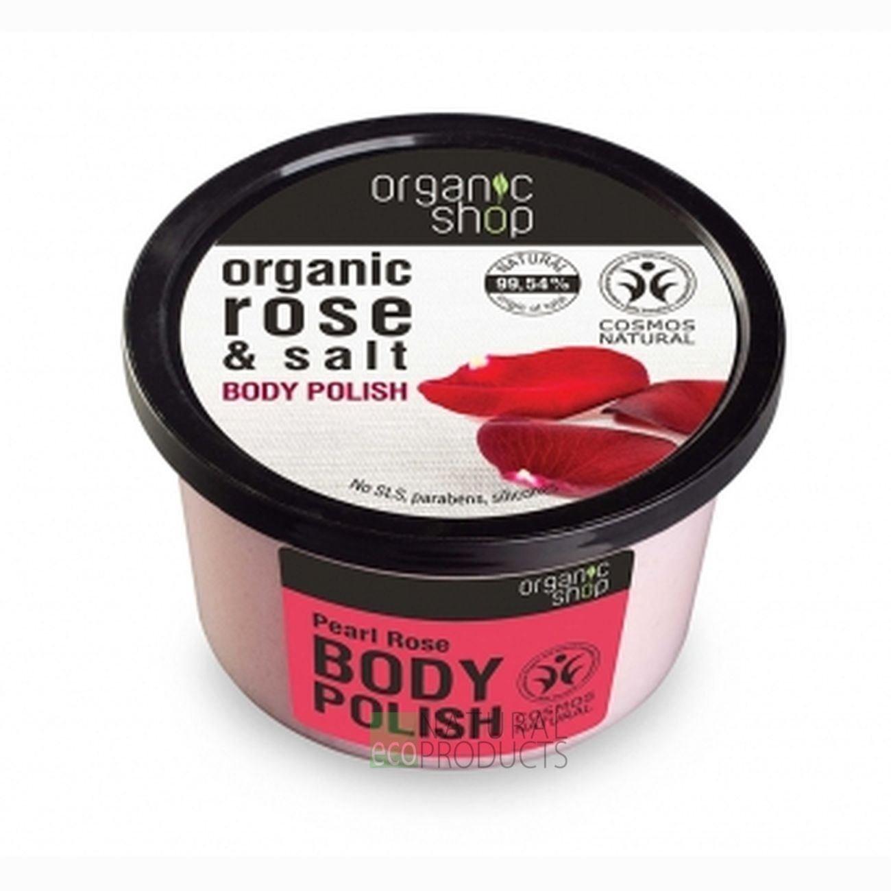 Organic Shop Pearl Rose Body Polish, 250 ml 4744183012653