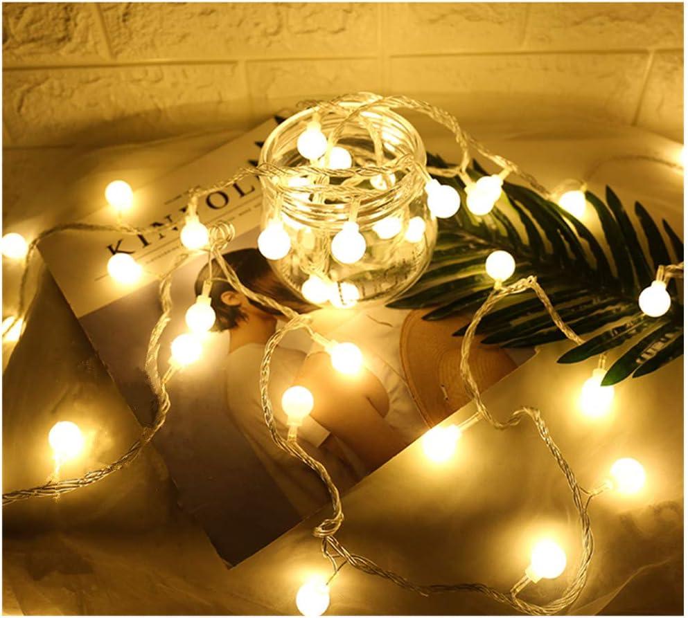 SUPERKIT Globe Lichterkette Warmwei/ß Au/ßen//Innen LED lichterkette Warmwei/ß 40LED Au/ßenlichterkette Wasserdicht Beleuchtung Weihnachtsbeleuchtung f/ür Weihnachten Halloween Hochzeit 6M