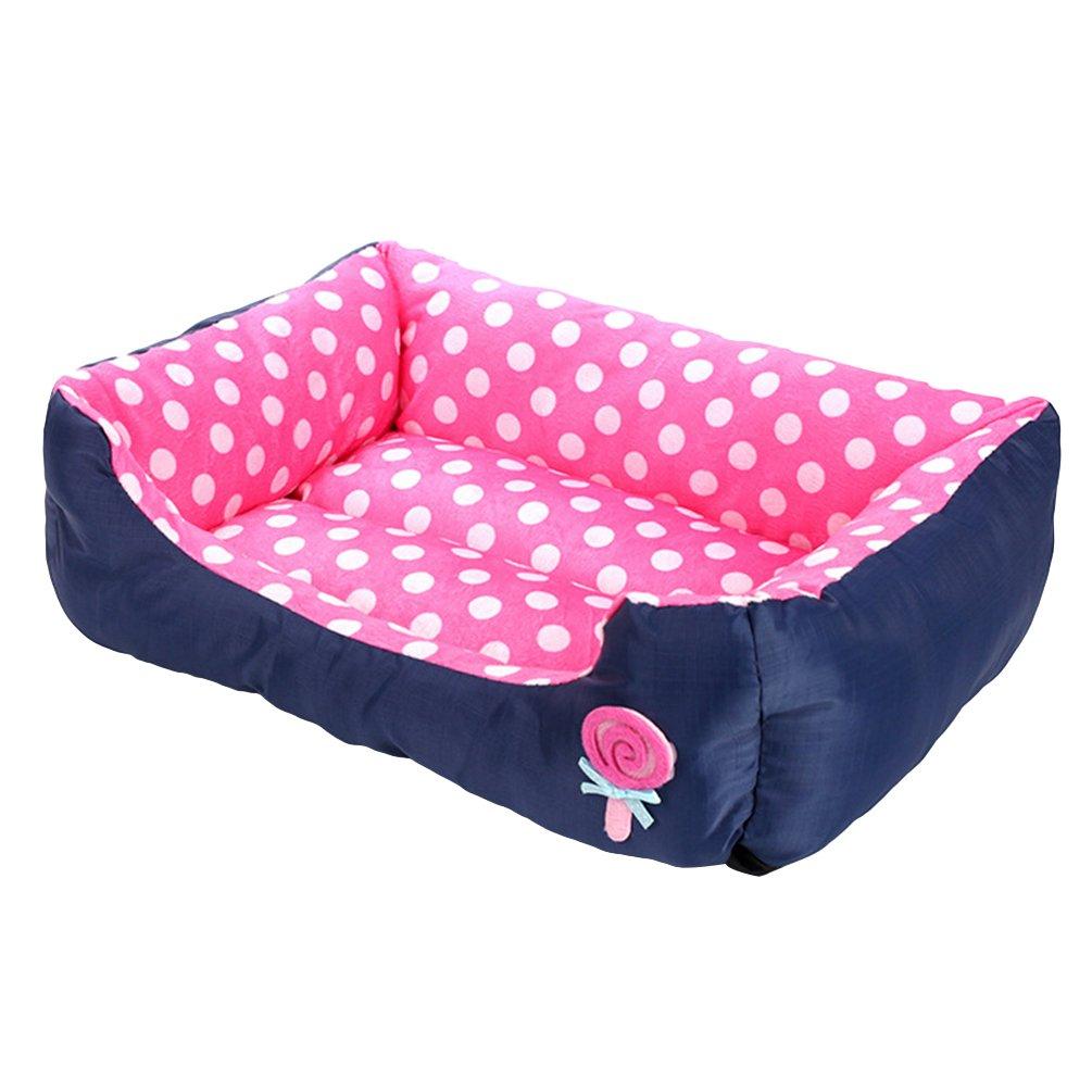 LvRao Cuccia Letto per Cani Gatti Rettangolare Lavabile Caldo Cuscino Cuccia Morbido Letto per Animale (Verde, S: 45*35*12CM)