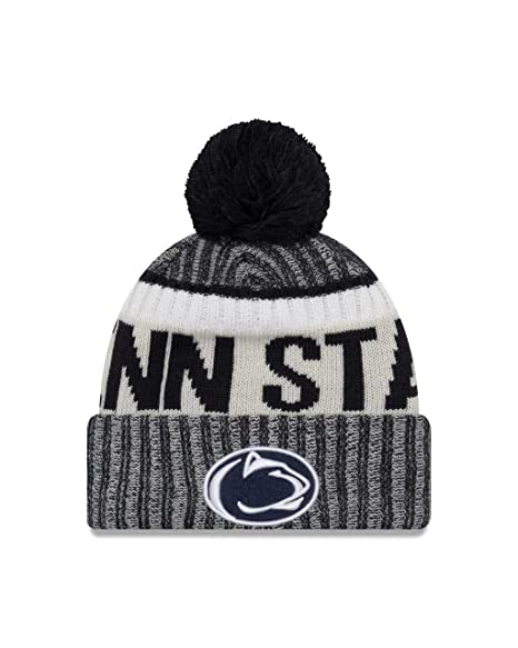 finest selection c01cd f54d9 New Era Penn State Nittany Lions Onfield Sport Pom Knit Beanie Hat Cap