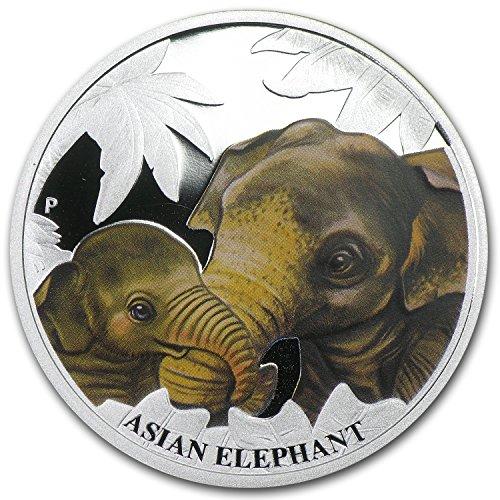- 2014 AU Australia 1/2 oz Silver Mother's Love Proof (Asian Elephant) 1/2 OZ Brilliant Uncirculated