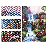 4 Pack 5D Full Drill Diamond Painting Kit, Country
