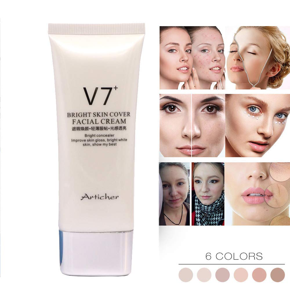 Ourhomer  Waterproof Full Coverage Cream Concealing Foundation Concealer Makeup Silky Smooth Texture (A)