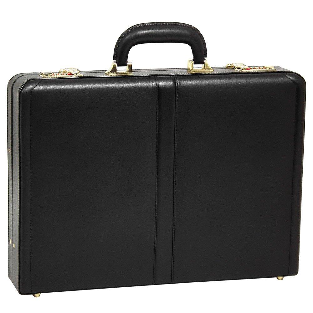 McKlein USA Reagan Slim Attache Case V series Leather 18'' Briefcase in Black by McKlein USA
