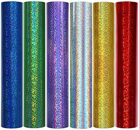 Láminas de vinilo precortadas de vinilo hendido de TECKWRAP holográfico 12