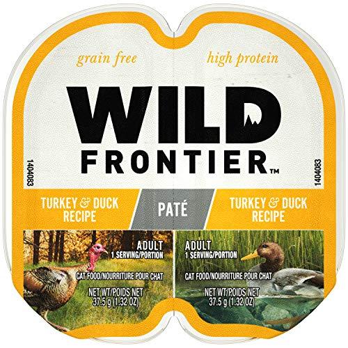 (Nutro Wild Frontier High Protein Grain Free Pate Wet Cat Food, Turkey & Duck, 2.65 Oz. (24 Twin Packs))